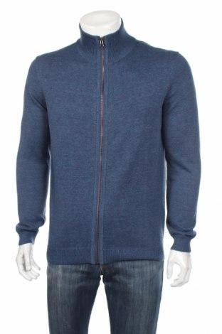 Pánsky kardigán Tom Tailor, Veľkosť L, Farba Modrá, 60% bavlna, 40% polyester, Cena  19,56€