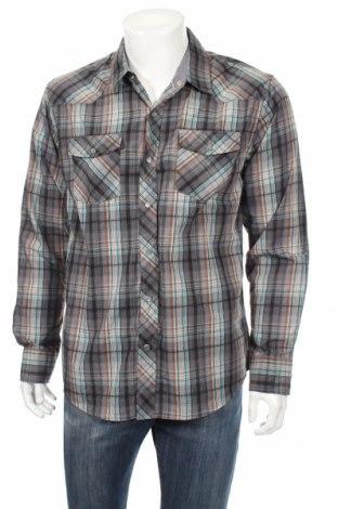 Ανδρικό πουκάμισο, Μέγεθος L, Χρώμα Πολύχρωμο, 55% βαμβάκι, 45% πολυεστέρας, Τιμή 10,49€