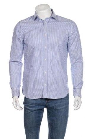 Ανδρικό πουκάμισο Boggi, Μέγεθος M, Χρώμα Μπλέ, 96% βαμβάκι, 4% ελαστάνη, Τιμή 19,74€