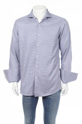 Мъжка риза Boss Selection, Размер L, Цвят Син, Памук, Цена 73,80лв.