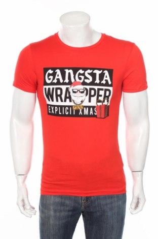 Мъжка тениска Clockhouse, Размер XS, Цвят Червен, 100% памук, Цена 25,50лв.