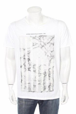 Pánske tričko  Guess, Veľkosť XL, Farba Biela, Bavlna, Cena  25,65€