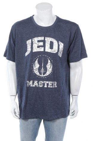 Мъжка тениска Star Wars, Размер 3XL, Цвят Син, 65% полиестер, 35% памук, Цена 23,52лв.