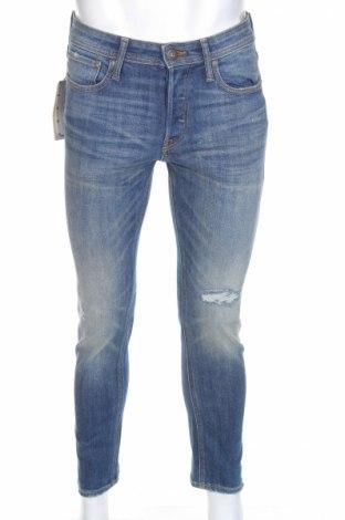 Мъжки дънки Jack & Jones, Размер XS, Цвят Син, 85% памук, 13% полиестер, 2% еластан, Цена 27,30лв.