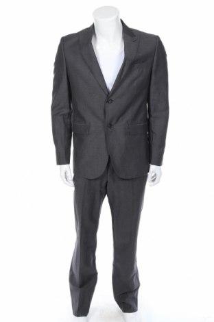 Pánsky oblek  DKNY, Veľkosť M, Farba Sivá, 55% vlna, 45% ľan, Cena  125,27€