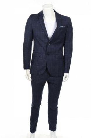 Pánsky oblek  Pier One, Veľkosť M, Farba Modrá, 78% polyester, 22% viskóza, Cena  97,42€