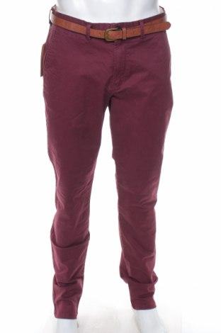 Мъжки панталон Jack & Jones, Размер L, Цвят Червен, 98% памук, 2% еластан, Цена 25,35лв.