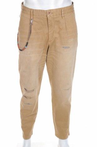 Мъжки панталон Jack & Jones, Размер L, Цвят Бежов, 97% памук, 3% еластан, Цена 26,65лв.