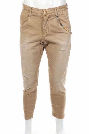 Мъжки панталон Jack & Jones, Размер M, Цвят Бежов, 97% памук, 3% еластан, Цена 26,65лв.