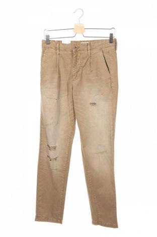 Мъжки панталон Jack & Jones, Размер XS, Цвят Бежов, 97% памук, 3% еластан, Цена 26,65лв.