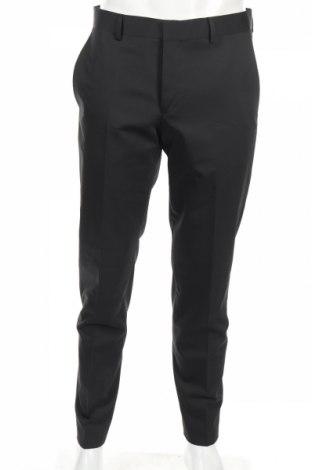 Мъжки панталон S.Oliver, Размер M, Цвят Черен, 79% полиестер, 19% вълна, 2% еластан, Цена 23,52лв.