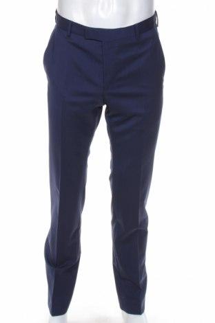 Мъжки панталон Strellson, Размер M, Цвят Син, 98% вълна, 2% еластан, Цена 40,95лв.