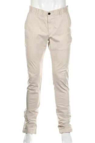 Ανδρικό παντελόνι Zara Man, Μέγεθος M, Χρώμα  Μπέζ, 97% βαμβάκι, 3% ελαστάνη, Τιμή 14,81€