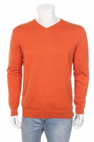 Męski sweter Red Wood, Rozmiar L, Kolor Pomarańczowy, Bawełna, Cena 41,25zł