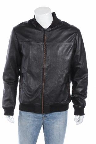 Мъжко кожено яке Antony Morato, Размер L, Цвят Черен, Естествена кожа, Цена 167,62лв.