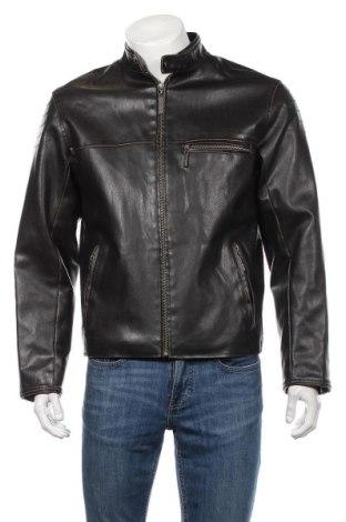 Мъжко кожено яке DH3, Размер S, Цвят Черен, Еко кожа, Цена 11,03лв.