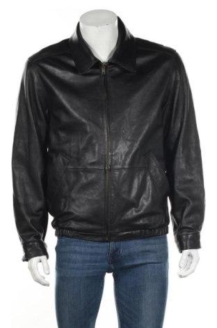Мъжко кожено яке Danier, Размер M, Цвят Черен, Естествена кожа, Цена 61,43лв.