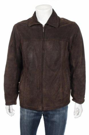 Мъжко кожено яке Jack's, Размер M, Цвят Кафяв, Естествена кожа, Цена 51,87лв.
