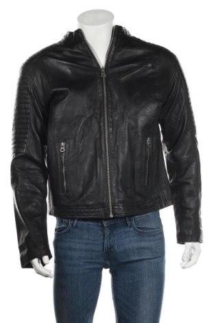 Мъжко кожено яке Kaporal, Размер XL, Цвят Черен, Естествена кожа, Цена 179,25лв.