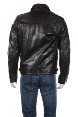 Мъжко кожено яке Schott, Размер M, Цвят Кафяв, Естествена кожа, Цена 301,95лв.