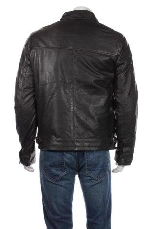Мъжко кожено яке Schott, Размер L, Цвят Кафяв, Естествена кожа, Цена 301,95лв.