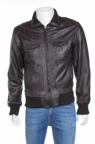 Мъжко кожено яке Selected, Размер S, Цвят Кафяв, Естествена кожа, Цена 87,25лв.