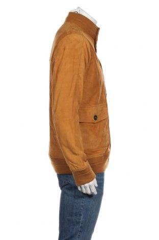 Мъжко кожено яке Timberland, Размер L, Цвят Кафяв, Естествен велур, Цена 399,62лв.