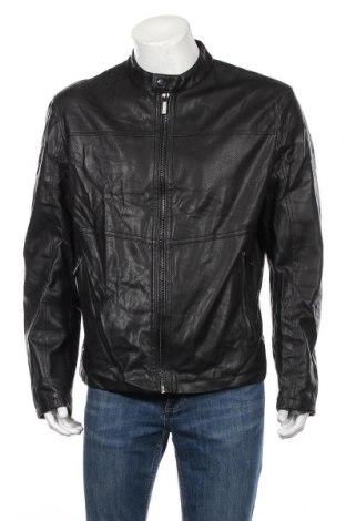 Мъжко кожено яке Zara, Размер XL, Цвят Черен, Еко кожа, Цена 32,55лв.