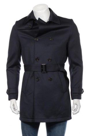Pánsky prechodný kabát  Zara Man, Veľkosť S, Farba Modrá, 95% polyester, 5% elastan, Cena  20,64€