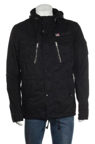 Ανδρικό μπουφάν Schott, Μέγεθος XL, Χρώμα Μαύρο, Βαμβάκι, Τιμή 77,62€
