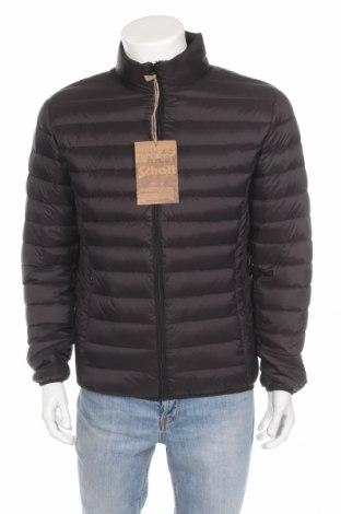 Ανδρικό μπουφάν Schott, Μέγεθος L, Χρώμα Μαύρο, Πολυαμίδη, φτερά και πούπουλα, Τιμή 93,85€