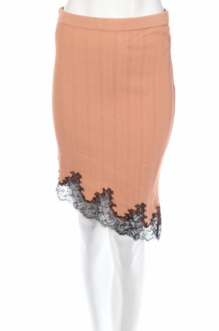 Φούστα Pinko, Μέγεθος L, Χρώμα  Μπέζ, 88% βισκόζη, 12% πολυεστέρας, Τιμή 47,01€