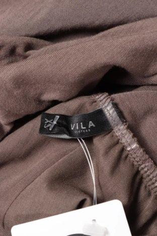Пола Vila, Размер XS, Цвят Кафяв, 70% полиестер, 26% вискоза, 4% еластан, Цена 5,98лв.