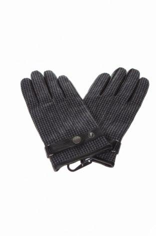 Ръкавици Devred 1902, Цвят Сив, Естествена кожа, текстил, Цена 34,50лв.