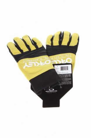 Ръкавици Oakley, Цвят Зелен, 70% полиамид, 13% полиуретан, 10% еластан, 5% други нишки, 2% полиестер, Цена 25,37лв.