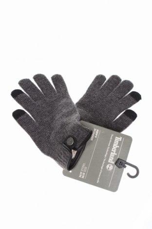 Ръкавици Timberland, Цвят Сив, 65% акрил, 28% вълна, 6% полиамид, 1% еластан, Цена 44,25лв.