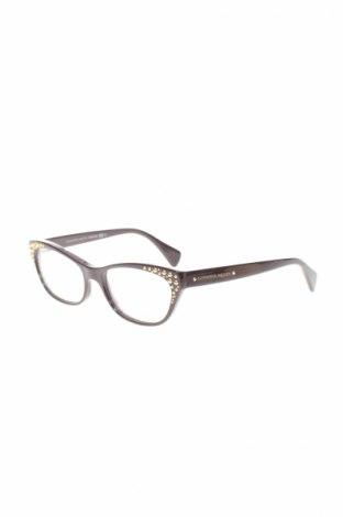 Рамки за очила Alexander Mcqueen, Цвят Кафяв, Цена 226,17лв.