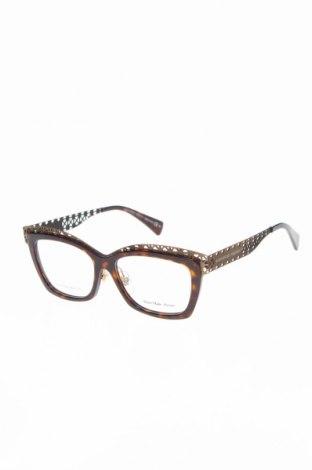 Рамки за очила Alexander Mcqueen, Цвят Кафяв, Цена 208,22лв.