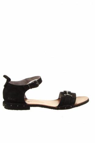 Sandale Fly London, Mărime 40, Culoare Negru, Velur natural, Preț 284,90 Lei
