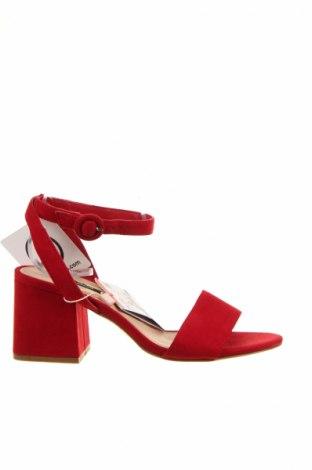 Sandale Pull&Bear, Mărime 36, Culoare Roșu, Textil, Preț 98,42 Lei