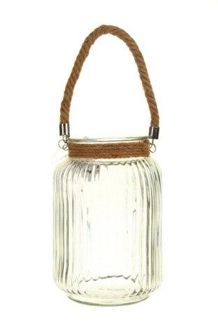 Свещник фенер, Цвят Бял, Стъкло, Цена 34,04лв.