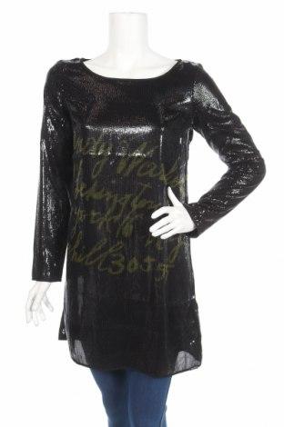 Туника Andy Warhol By Pepe Jeans, Размер M, Цвят Черен, Полиестер, Цена 90,35лв.