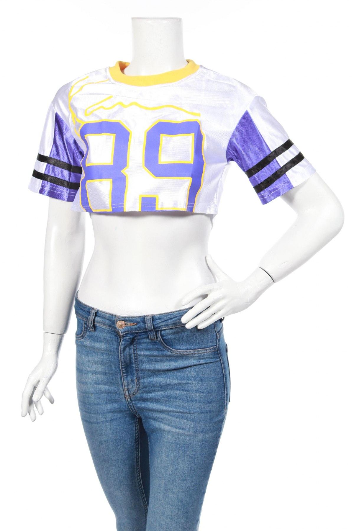 Дамска спортна блуза Pretty Little Thing, Размер XXS, Цвят Бял, Полиестер, Цена 3,08лв.