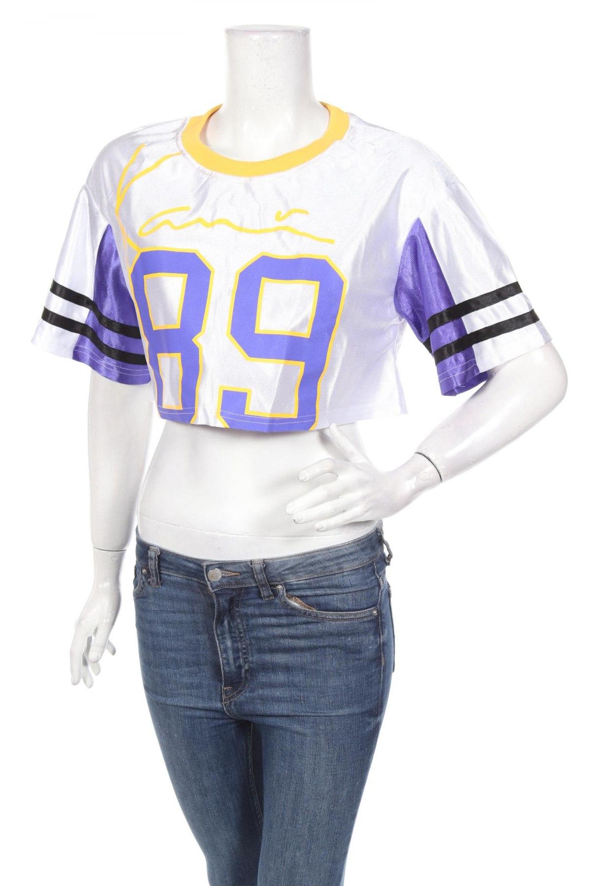 Дамска спортна блуза Pretty Little Thing, Размер M, Цвят Бял, Полиестер, Цена 3,08лв.
