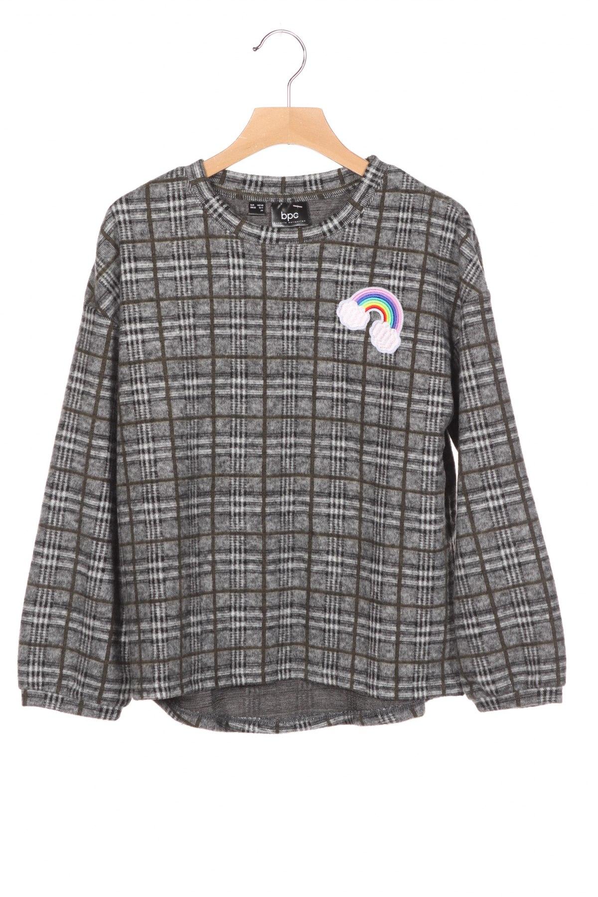 Детска блуза Bpc Bonprix Collection, Размер 9-10y/ 140-146 см, Цвят Сив, 89% полиестер, 10% вискоза, 1% еластан, Цена 25,50лв.