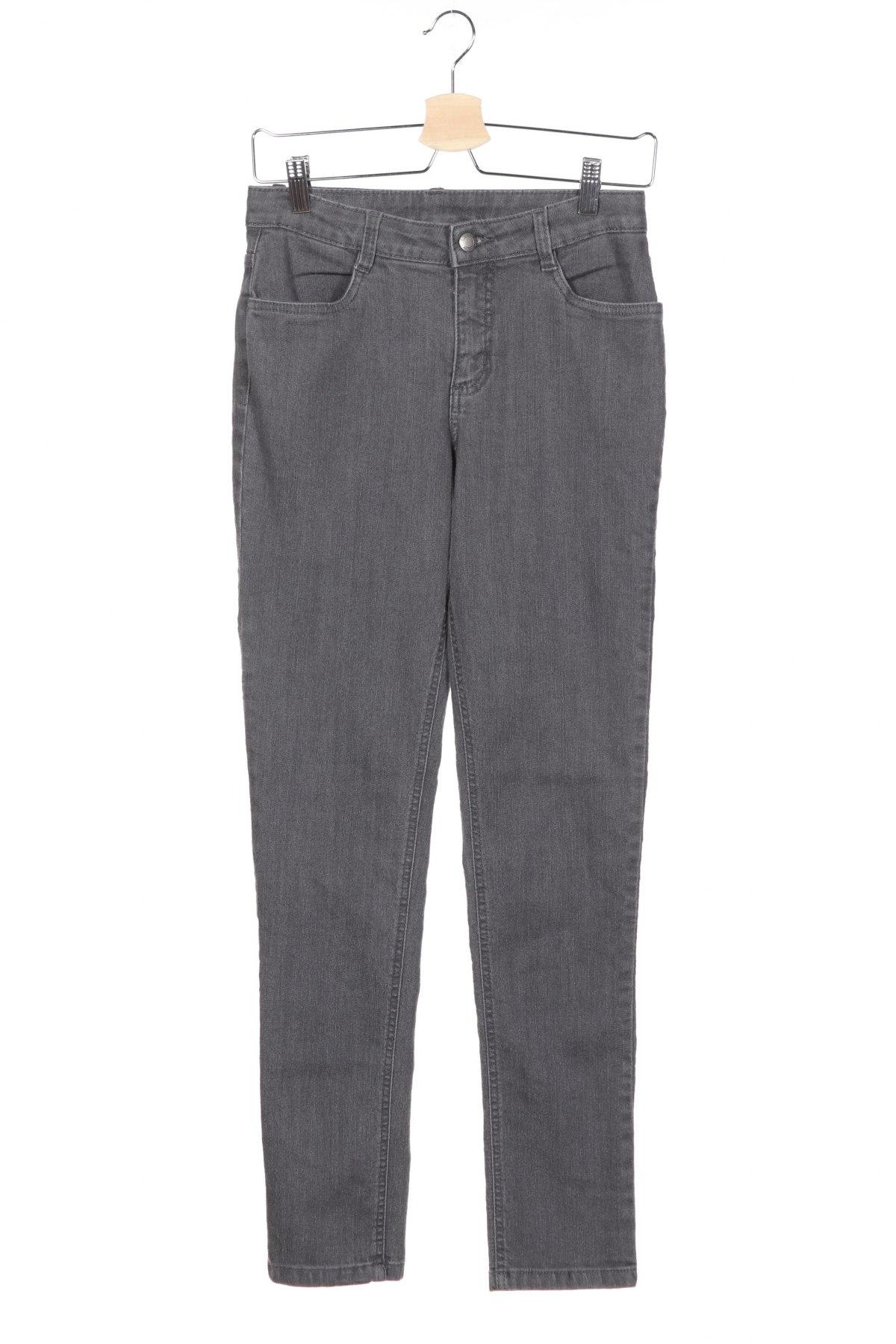 Детски дънки John Baner, Размер 12-13y/ 158-164 см, Цвят Сив, 82% памук, 17% полиестер, 1% еластан, Цена 8,64лв.