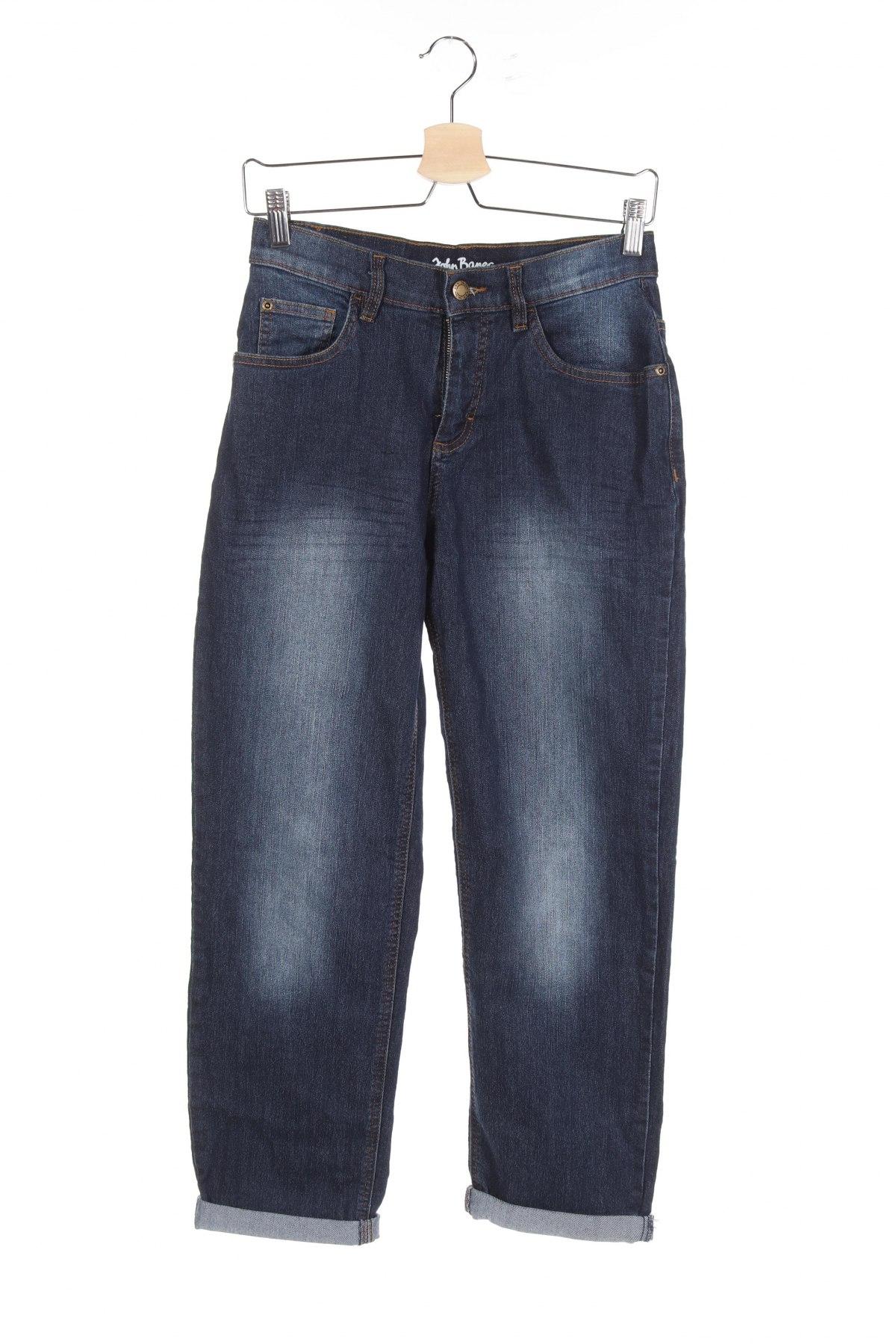 Детски дънки John Baner, Размер 11-12y/ 152-158 см, Цвят Син, 82% памук, 17% полиестер, 1% еластан, Цена 6,90лв.