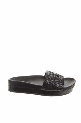 Papuci Aigner, Mărime 36, Culoare Negru, Piele naturală, Preț 314,15 Lei
