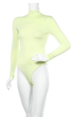 Bluză-body de damă. Bershka, Mărime S, Culoare Verde, 93% poliester, 7% elastan, Preț 88,82 Lei