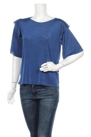 Дамска блуза Cortefiel, Размер S, Цвят Син, 92% полиестер, 8% еластан, Цена 14,04лв.